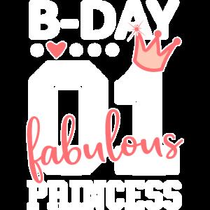 Geburtstag Prinzessin Mädchen Nummer 01