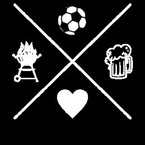 Fußball Grillen Bier