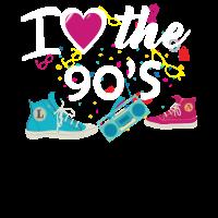 i LOVE the 90s Shirt Vintage Retro Good TImes