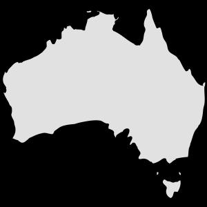 Kontinent - Australien - sw
