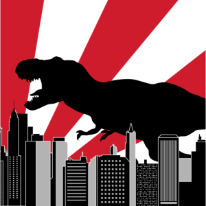 Godzilla Trex in Tokio Japan