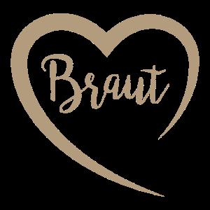 Braut gold Herz