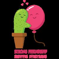 Kaktus und Ballon - Freunde - Freundschaft - Liebe