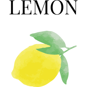Lemon Aquarell Zitrone Vegan Vegetarier gesund