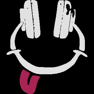 Kopfhörer - Smiley - Zunge
