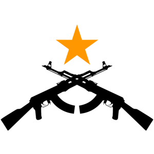zwei AK47 mit Stern (schwarz)