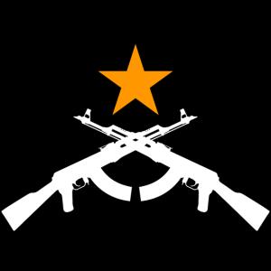 zwei AK47 mit Stern (weiß)