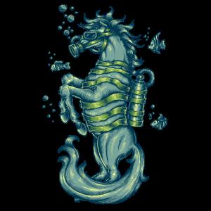 Seepferdchen Taucher Tauchen Tattoo Fische Pferd