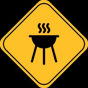 Zeichen des Grills