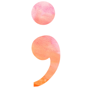 Semicolon Geschenk watercolor kämpferin semikolon