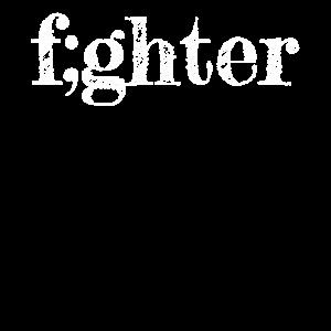 Semicolon Kämpfer Geschenk Semikolon fighter