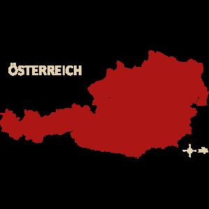 Oesterreich Austria Dr Maps red