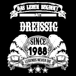 30. Geburtstag T-Shirt Motiv