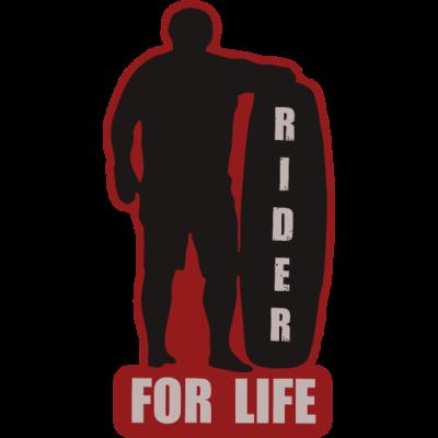 Rider for life Wakeboarder Shirt - Wakeboarden ist mehr als ein Hobby, es ist eine Leidenschaft mit seinen Freunden am See zu sein bis zum Sonnenuntergang. Das Wasser um sich zu haben ist wie ein kleiner Urlaub. - wakesurf,for life,ronix,prallschutzweste,Geburtstag,Rider,weste,langenfeld,wakeskate,wakeshirt,liquid force,cablepark,hyperlite,bindung,boot,boots,wakeboarding,Geschenkidee,helm,Weihnachten,wakeboard,wasserski,wakeboarden,anlage,shredden