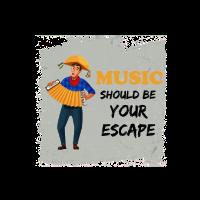 Musik Rettung Flucht Ziehharmonika Sombrero