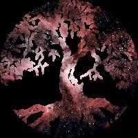Baum des Lebens Weltraum Geschenk Idee