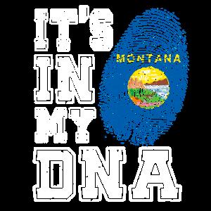 Montana DNA T-Shirt Amerika USA Bundesstaat Stolz