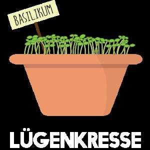 Lügenkresse - Lügenpresse - Kresse - Basilikum