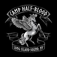 Camp Halbblut Shirt Sohn von Poseidon Kinder Orange