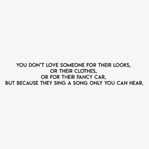 You don't love