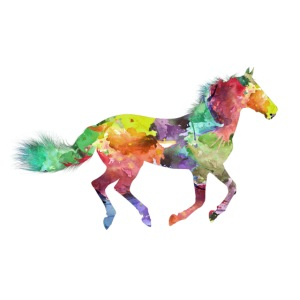 Cheval multicolore