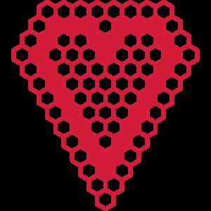 Hexagon Herz