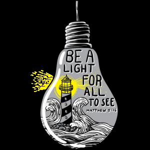 Inspirational Zitat der Bibel Seien Sie ein Licht für alle