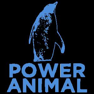 Pinguin Krafttier Geschenkidee