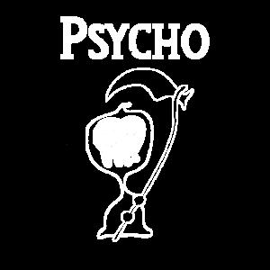 Psycho Shirt verrückt crazy Skull Sensemann