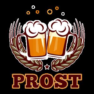 Prost Bier Bierkrug Oktoberfest Trinkspruch