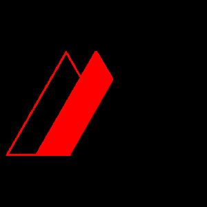Geometrische Berge (transparent, Rot, Schwarz)