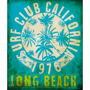 Long Beach Surf Club California 1976 Gift Idea