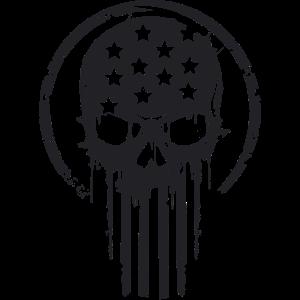 Skull America schwarz