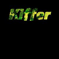 Kiffer Cannabis Raucher Schriftzug TShirt Geschenk