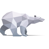 Eisbär-Polygone