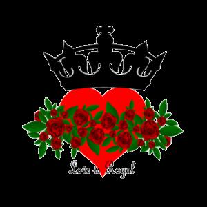 love is royal liebe krone herz Geschenk rose