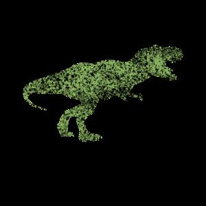 T-Rex Kunst grün
