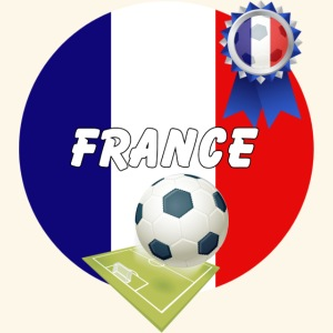 France Football Team Rosette Pitch and ball