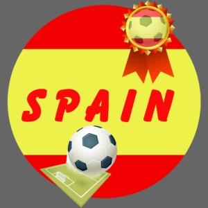 Spain Football Team Supporter Rosette Ball & Pitch