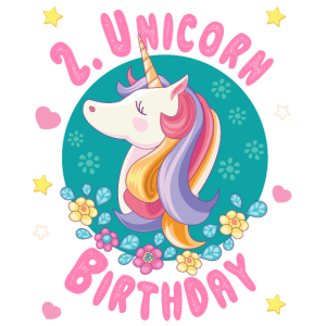 Einhorn 2. Geburtstag 2 Jahre - Unicorn Geburtstag