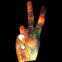Cooles Peacezeichen