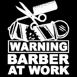 Warnung, Kamm, Schäre, Barbier, Friseur, Geschenk