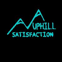 UPHILL SATISFACTION Wandern Bergsteigen T-Shirt