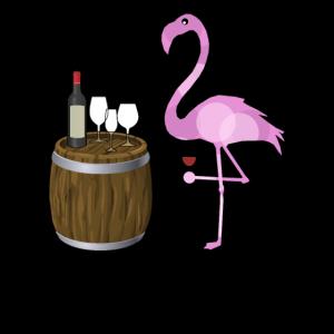 Weinprobe Flamingo Shirt