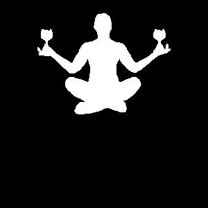 Schneidersitz Weinglas Yoga