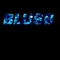 Blubb T Shirt Schriftzug Blubberblasen blau
