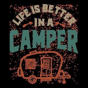 Das Leben ist besser in einem Camper