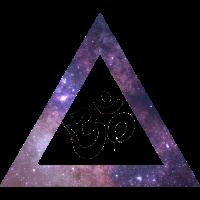 Goa Psytrance Psychedelic om Dreieck