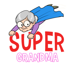 Super Grandma Oma Held Heldin Großmutter Omi