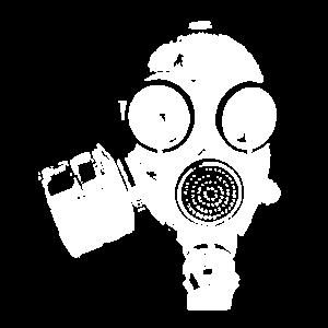 Crazy Gasmaske Atemschutz Maske Shirt Geschenk